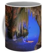 Ice Cave Setting Full Moon Serenity Coffee Mug