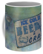 Ice Cold Beer And Crabs - Looks Like Summer At The Shore Coffee Mug