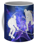 Ice Hockey Players Fighting For The Puck Coffee Mug