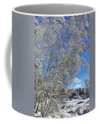 Ice Laden Birches Coffee Mug