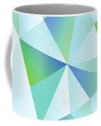 Ice Shards Abstract Geometric Angles Pattern Coffee Mug