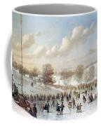 Ice Skating, 1865 Coffee Mug