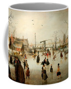 Ice Skating In A Village Coffee Mug