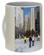 Ice Skating In The Park Coffee Mug