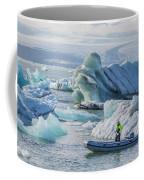 Icebergs On Jokulsarlon Lagoon In Iceland Coffee Mug