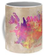Iceland Map Coffee Mug
