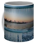 Icicles And Chicago Skyline Coffee Mug