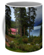 Iconic Maligne Lake And Boat House II Coffee Mug