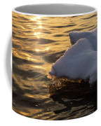 Icy Gold And Silk - Luminous Icicles Reflected On Glossy Water Coffee Mug