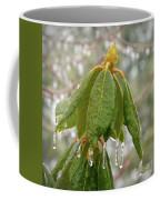 Icy Leaves Coffee Mug