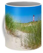 Idyllic Dunes And Lighthouse At North Sea Coffee Mug