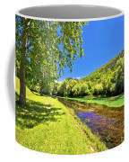 Idyllic Krka River In Knin Landscape Coffee Mug