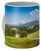 Idyllic Landscape In The Alps, Appenzellerland, Switzerland Coffee Mug