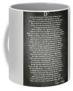 If Poem By Rudyard Kipling Coffee Mug