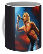 Iggy Pop Painting Coffee Mug by Paul Meijering