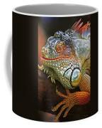 Iguana Full Of Color Coffee Mug