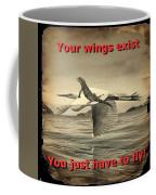 Iguana With Wings Coffee Mug