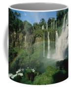 Iguazu Waterfalls With A Rainbow Coffee Mug