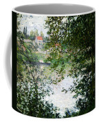 Ile De La Grande Jatte Through The Trees Coffee Mug by Claude Monet