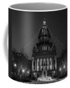 Illinois State Capitol B W Coffee Mug