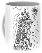 Surrealism Illuminati Black And White Coffee Mug