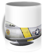 Illustration Of A North American F-86f Coffee Mug