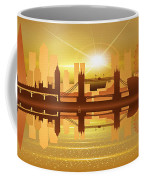 Illustration Of City Skyline - London  Sunset Panorama Coffee Mug