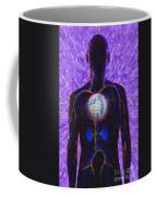 Illustration Of Computer Enhanced Human Coffee Mug