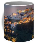 Imerovigli After Sunset, Santorini Coffee Mug