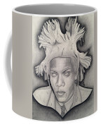 Immortalizing In Stone Jean Michel Basquiat Drawing Coffee Mug