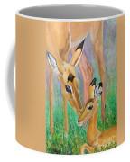 Impala Doe And Fawn Coffee Mug