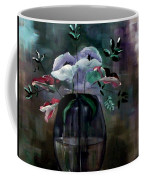 Impatient Painterly Floral Coffee Mug