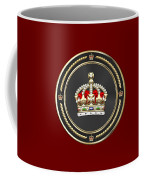 Imperial Tudor Crown Over Red Velvet Coffee Mug