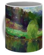 Impressionistic Oil Landscape Lake Painting Coffee Mug