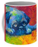 impressionistic Pug painting Coffee Mug by Svetlana Novikova