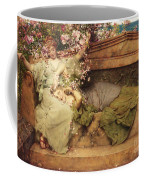 In A Rose Garden Coffee Mug by Sir Lawrence Alma-Tadema
