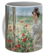 In The Flower Garden, 1899 Coffee Mug