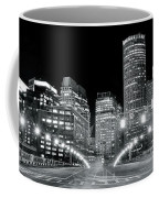 In The Heart Of A Black And White Town Coffee Mug