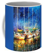 In The Port - Palette Knife Oil Painting On Canvas By Leonid Afremov Coffee Mug