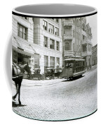 In This 1913 Photo, A Cable Car Drives Past The Littlefield Building And Dristill Hotel On Sixth Str Coffee Mug