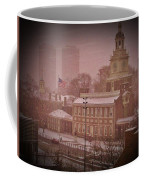 Independence Hall In The Snow Coffee Mug