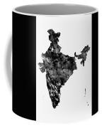Map Of India-black Coffee Mug