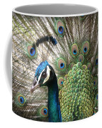Indian Blue Peacock Puohokamoa Coffee Mug