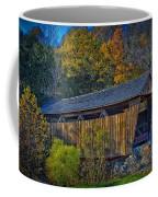 Indian Creek Covered Bridge In Fall Coffee Mug