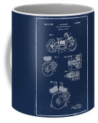 Indian Motorcycle Patent 1943 Blue Coffee Mug