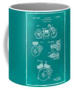 Indian Motorcycle Patent 1943 Green Coffee Mug