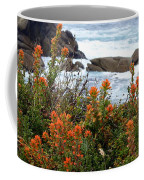 Indian Paintbrush At Point Lobos Coffee Mug