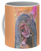 Indian Rajasthani Woman With Colorful Background  Coffee Mug