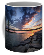 Indian River Inlet And Bay Sunset Coffee Mug