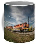 Indiana Southern Railroad Locomotives At Edwardsport Indina Coffee Mug